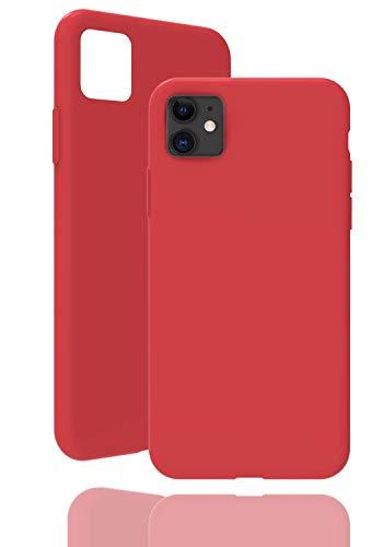 inv. [Compatible con Apple iPhone 11 – 6,1 pulgadas, en color rojo vino. Funda de silicona original de alta calidad, acabado perfecto.