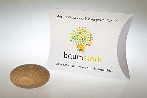 Baumstark Handschmeichler 45 mm mit Baumhoroskop, Holz, Esche, 8 x 11.5 x 2.8 cm