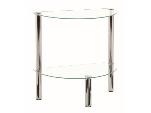 Haku Möbel 90241 Low Occasional Table - Steel Tubing/Tempered Glass - Chrome
