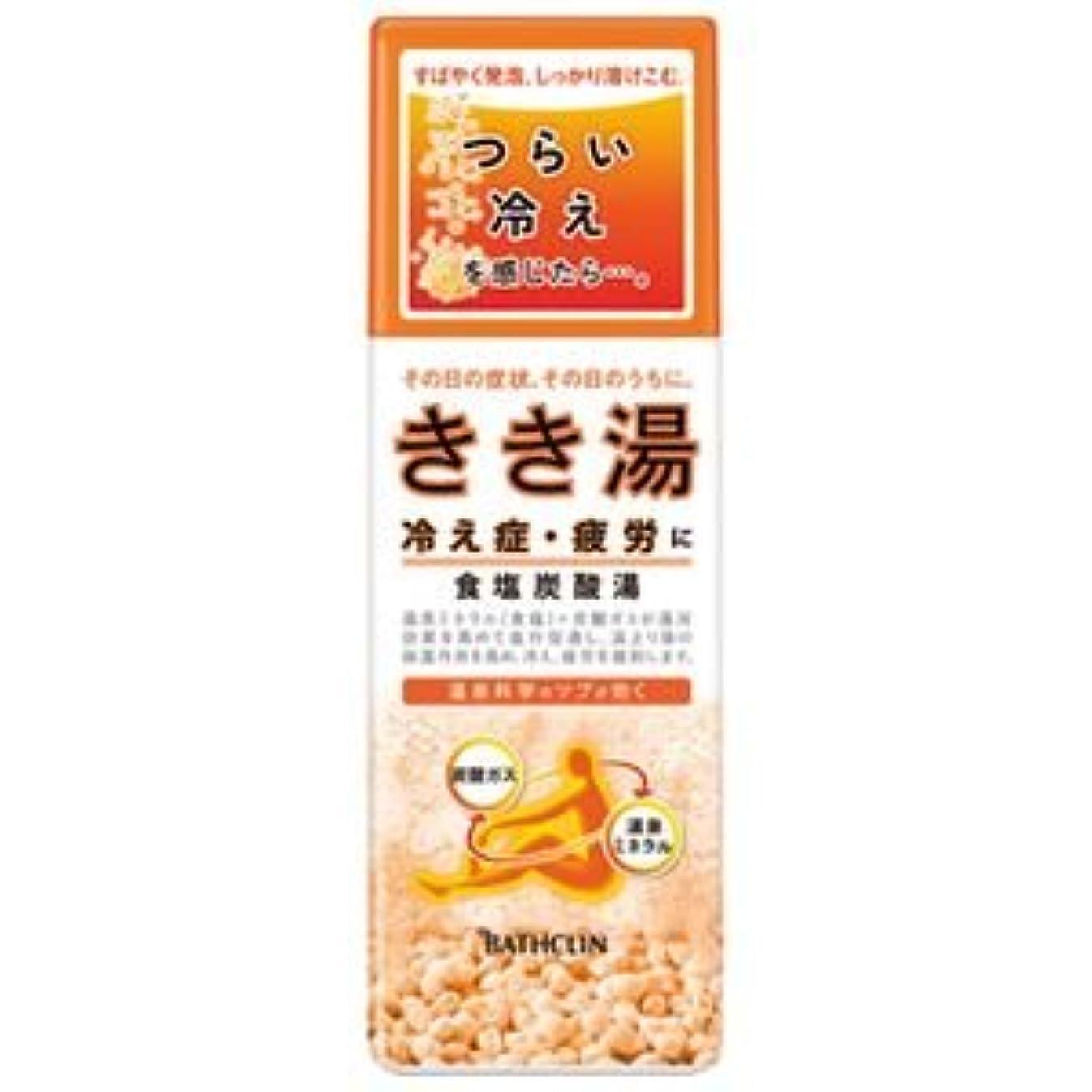 石の優先権消毒する(業務用10セット) バスクリン きき湯 食塩炭酸湯 360g