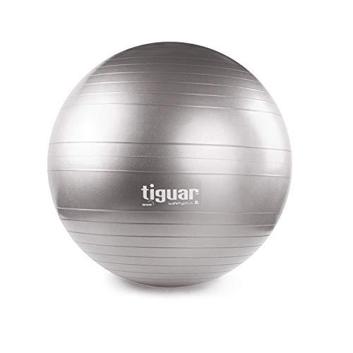 Tiguar Gymnastikball Safety Plus 65 cm grau Sitzball Beckendboden Gleichgewicht