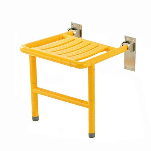 ZLL Walker De Ducha,Taburete Plegable Montado En La Pared,Silla Antideslizante For Personas Mayores con Discapacidades,47.5 * 46 * 48.5 Cm (Color : Yellow)
