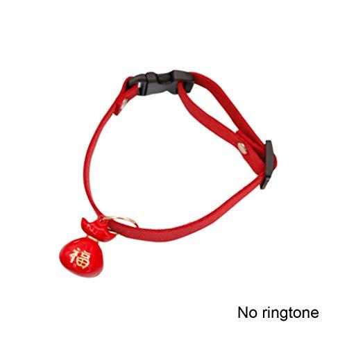 KHFFH hondenriem, hondenhalsband, katoen, wandklok, handgemaakte sieraden, voor puppy's en katten, XL, 7