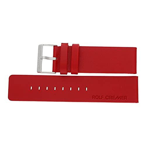 Rolf Cremer Ersatzbandlederband für Jumbo II LB6 rot Schließe Edelstahl