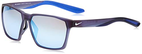 Nike EV1095-410 Maverick M - Gafas de sol mate azul marino, color gris con lente de espejo azul