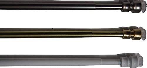 TENDEEVOLUTION Coppia astine a molla bastoncini di altissima qualità con applicazione a pressione per tende varie Misure e colori, 8mm di spessore (Da 30 a 40CM, Ottone)