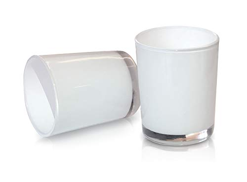 Lucasso White Mercury Votive Candle Holders Set, Pack of 20 – Perfect for Parties, Wedding, Special Events, Valentine's Day, Birthday Surprises, Prom, New Year Party, Home and Events Décor (White)