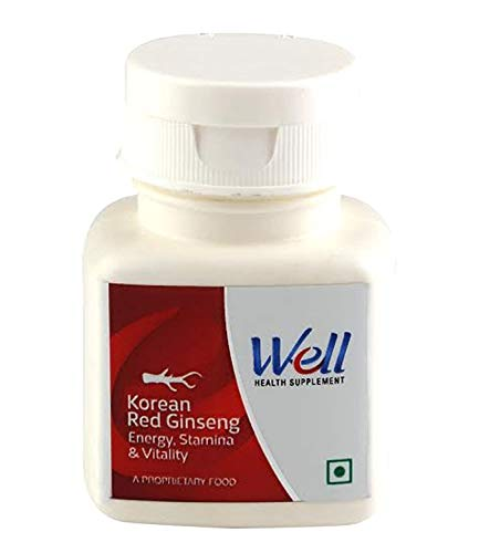GREEN ORGANICS Modicare Korean Red Ginseng Tablets (6 yrs old) - Rejuvenates, Stamina - 60 N