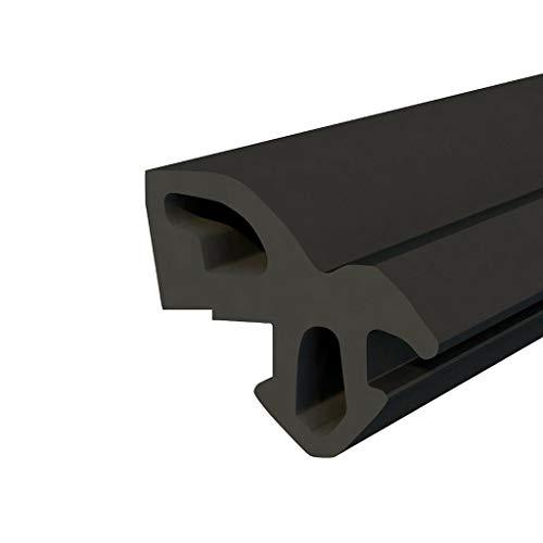 DQ-PP Fensterdichtung | Schwarz | 50 Meter | S-1560 Aluplast | PVC Fenster | Gummidichtug Dichtung Dichtband | Kunststofffensterdichtungen | ALU Profildichtung Türdichtung