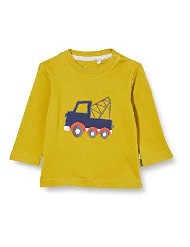 Sigikid Baby-Jungen Langarmshirt aus Bio-Baumwolle, Größe 062-098 Pullover, Ocker/Fahrzeug, 98