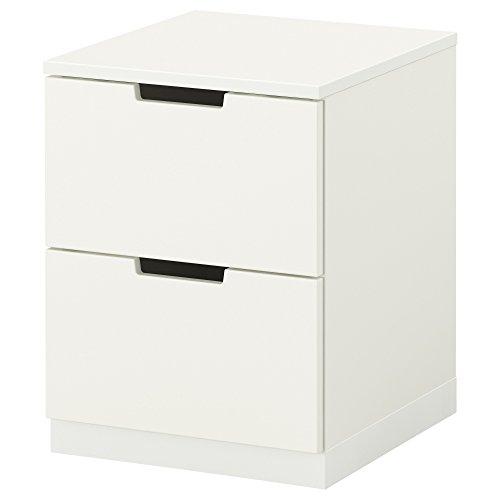 ZigZag Trading Ltd IKEA NORDLI Kommode mit 2 Schubladen, Weiß