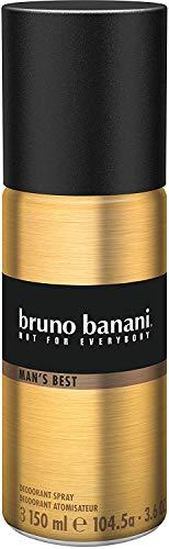 Bruno Banani Man's Best Deodorant Body Spray, maskulin, 1er Pack (1 x 150 ml)