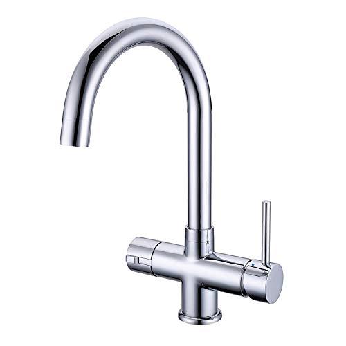 Chrom Instant Hot/Kochendes Wasser Küche Wasserhahn 3 in 1 kaltes Wasser Filter & Heizung Tank - 2