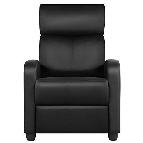 Yaheetech Relaxsessel Ruhesessel Fernsehsessel Cinemasessel Sofa Recliner Einzelsofa TV Hocker Sofa Bein-Ablage Kunstleder