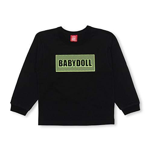 BABYDOLL(ベビードール)親子お揃い ボックス ロゴロンT 3605K 110cm ブラック