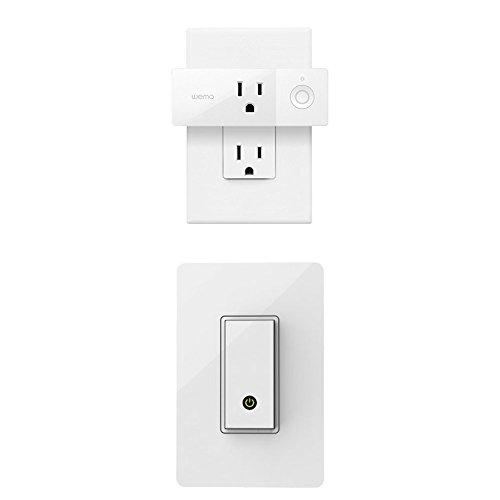 Wemo Mini and Wemo Light Switch Bundle - Works with Amazon Alexa and Google Assistant