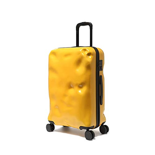 LLRDIAN Hand Carry-on Suitcase Luggage Bag Luggage Suitcase Hand Luggage Hard Shell Luggage Lightweight Hand Luggage Suitcase (Color : Yellow, Size : 32×20×54cm)