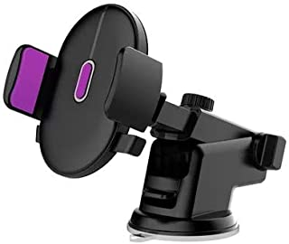 LEEIOO Car mount Dashboard&windshield Car Phone Holder Cell Phone Car Cradle for iPhone X 8/8s 7 7 Plus 6s Plus 6s 6 SE Samsung Galaxy S8 Plus S8 Edge S7 S6 Note 8 (black&purple)