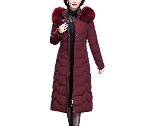 MCSZG Heißer Neue Daunenjacke Frauen Winter Pelz Kapuzenmantel Lange Dicke warme übergröße weibliche Plus größe warme daunenmantel Parka dünne Kleidung