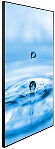 InfrarotPro Infrarotheizung, Wassertropfen Blau, 120x75x3 cm