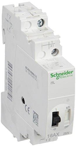 Schneider A9C30011 fjärrbrytare iTL, 1P, 1S, 16A, spole 12 VAC 50/60 Hz – 6 VDC