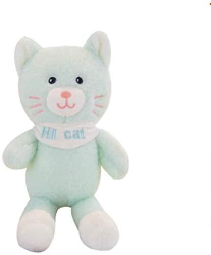 Cat Peluches Gato Peluche Juguete Peluche Animal para niños niños niños cumpleaños (Color : Blue, Size : 30cm)