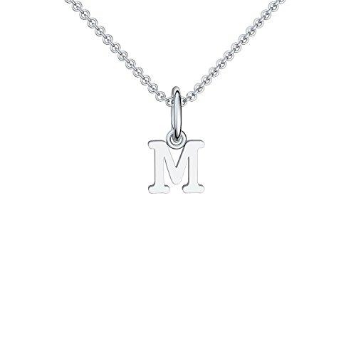 Buchstabenkette M Silber Buchstabenanhänger M - inkl. Luxusetui + - Namenskette Namensanhänger Buchstabe M Kette Buchstabe M Buchstabenanhänger Buchstaben Anhänger Silber FF116-0 SS92545