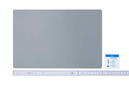 Flickly Anhänger Planen Reparatur Pflaster | in vielen Farben erhältlich | 30cm x 20cm | SELBSTKLEBEND (Silber)