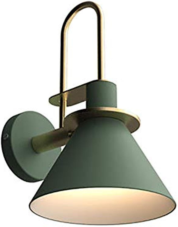 Led Farbe Wandleuchte Macaron Horn Wandleuchte Moderne Minimalistische Metall Wandleuchte Kinderzimmer Wandleuchte Nachttischlampe Wohnzimmer Schlafzimmer Gang Korridor Wandleuchte (grün)