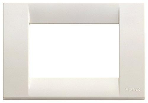 VIMAR 16743.04 Idea Placca Classica 3 moduli in tecnopolimero, bianco