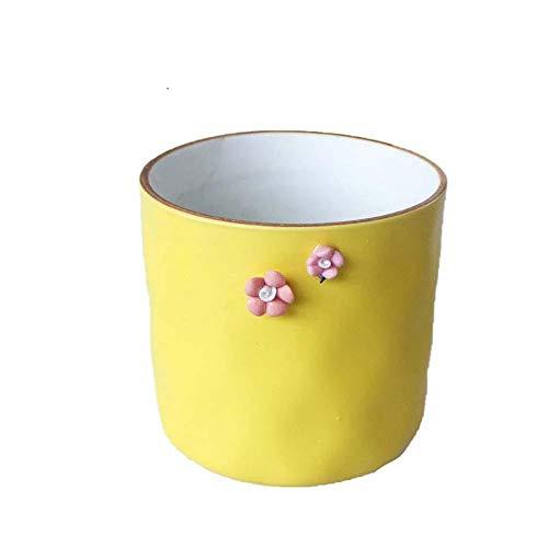 Outflower carré Motif Minimaliste créatif Motif de Pot de Fleurs Motif Pot de Fleurs en céramique Fleur charnu Jardin Meubles de Jardin