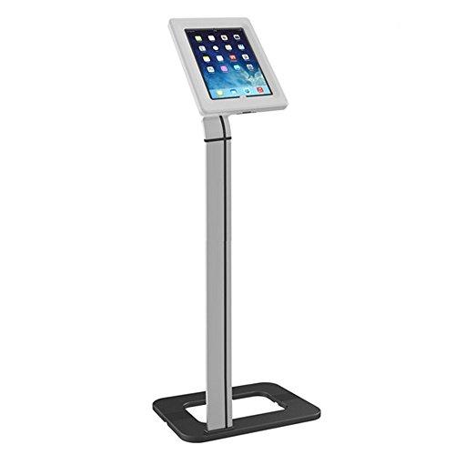 Maclean MC-645 Supporto Tablet Compatibile con l iPad Galaxy Tab e altri 9.7  -10.1   da Terra Pavimento Espositore Presentazione Mostra Commerciale con Sistema Antifurto Passacavo Orizzontale e Verticale