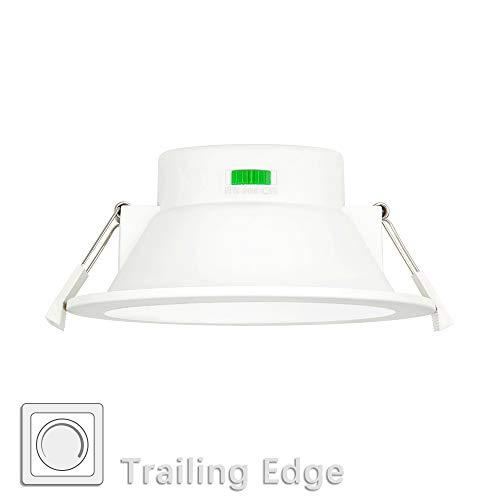 Lampara Downlight LED Empotrable de Techo de Empotrar LED 12W Regulable 1100Lm para Baños Cocina Luz Calida y Fria Ajustable 220V-240V Diámetro de Agujero Techo 120-140MM Lot de 1 de Enuotek