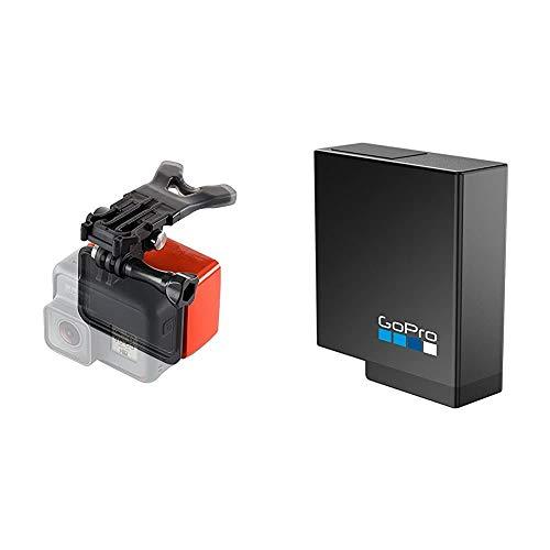 Soporte de Boca y Floaty para Hero7, Hero6 & Hero5 Negro (Accesorio Oficial de Gopro) + Rechargeable Battery (Hero 5/6/7)