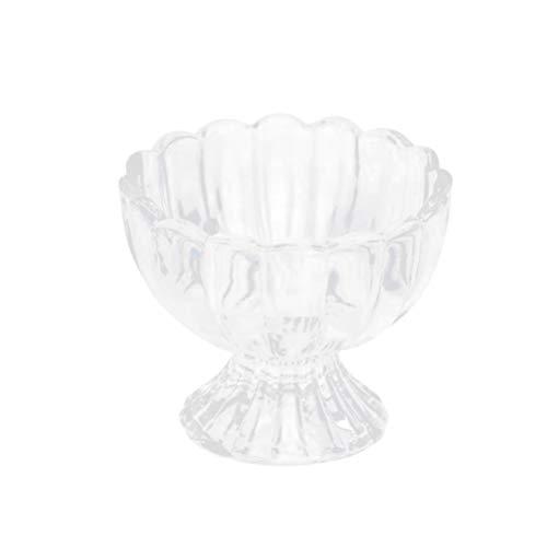 UPKOCH 1 stück dessertschale transparent glas lotusform milchshake tasse salatschüssel eis tasse für dessert shop hause küche