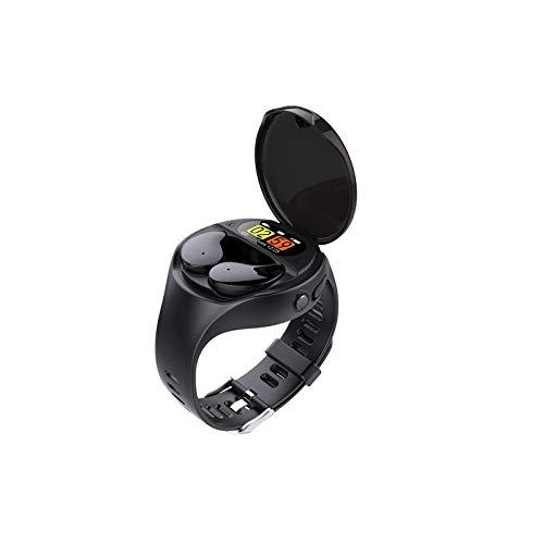 GUOJIAYI Combinación de reloj inteligente desmontable, contador de pasos, recordatorio de llamadas Bluetooth 5.0 auricular