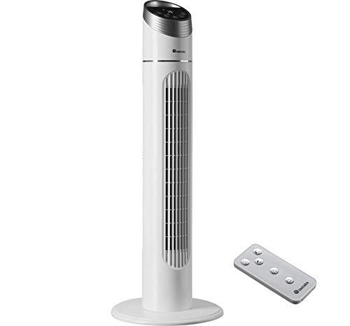 tectake 403922 Ventilador de torre 90 cm, Ventilador con control remoto, Sistema de climatización, Climatizador de aire portátil para el hogar