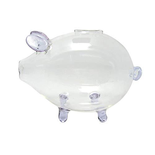 Goodangie00 Kristall Klar Glas Molliges Schwein Sparschwein Geld Sparen Kasse Münze Box Geburtstag Hochzeit Home Décor - Lila