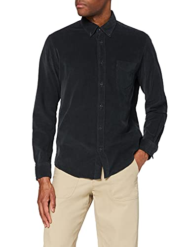 Marca Amazon - find. Camisa Casual de Pana Hombre, Verde (Green), XL, Label: XL
