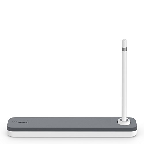 Belkin Apple Pencil Case + Apple Pencil Stand for iPad (Apple Pencil Holder, iPad Pencil Case, iPad Pencil Stand), White (F8J206btGRY)