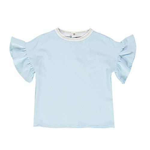 Brums Camicia RASETTO Blusa, Turchese (Acqua 02 121), 116 (Taglia Unica: 6A) Bambina