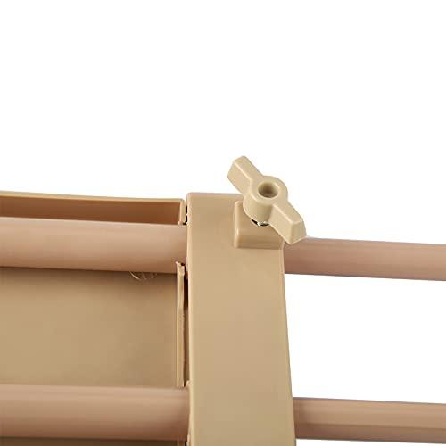 Estante de almacenamiento ajustable Organizador de guardarropa resistente Estantes de almacenamiento ajustables Estante de almacenamiento multifunción Compartimento separador para cocina(M, 12)