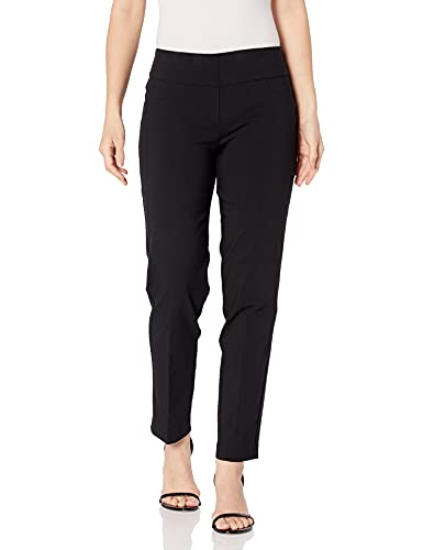 Ruby Rd. Women's Plus-Size Plus Pull-On Solar Millennium Super Stretch Pant, Black, 22W