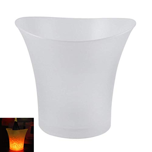 LED Ice Bucket, 5L champagne wijn bier flessen koeler kleur veranderen ijs emmer container voor bar nachtclub partij KTV Geel