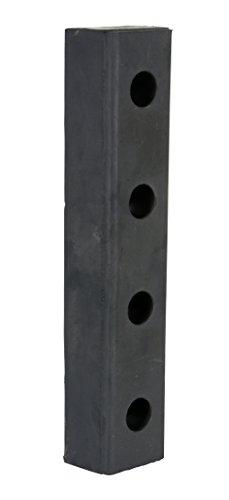 Vestil DBE-20-1 Rubber Hardened Molded Bumper, Rectangular, Vertical Mount, 20