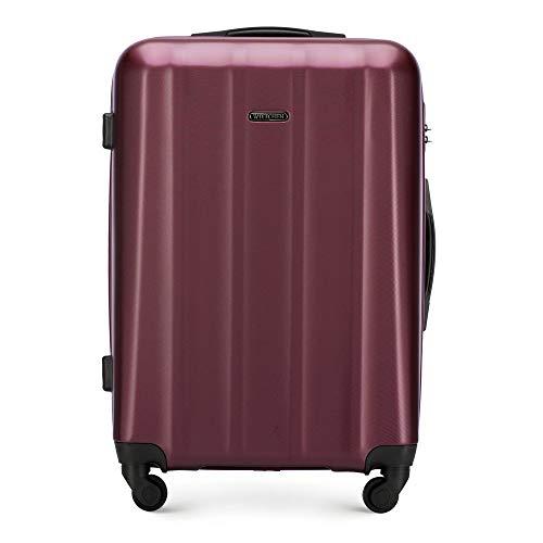 WITTCHEN Koffer – Set of 3   hartschalen, Material: polycarbonat   hochwertiger und Stabiler   Dunkelrot   Verschiedene Größen