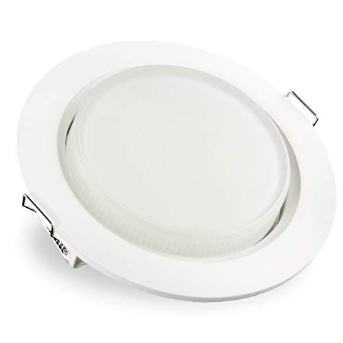 Preisvergleich Produktbild SSC-LUXon RX-3 Einbaustrahler LED weiß flach - mit GX53 LED 5, 5W warmweiß 230V wechselbar - Einbauspot rund Deckeneinbauspot