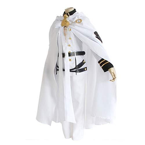 YKJ Anime Charakter Rollenspiel Jacke Hose Weißer Mantel Erwachsene Kostüm Kleidung Halloween Karneval Party Uniform Vollen Satz,Full Set-M