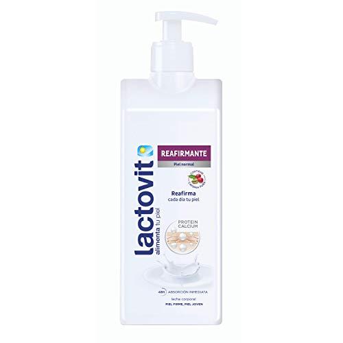 Lactovit Straffende Körpermilch mit Protein Calcium und reinem Koffein für normale Haut – 400 ml