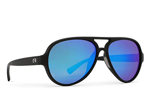 Rheos Palmettos Aviator Floating Polarized Sunglasses | 100% UV Protection | Floatable Shades | Ideal for Fishing and Boating | Anti-Glare | Unisex | Gunmetal | Deep Sea